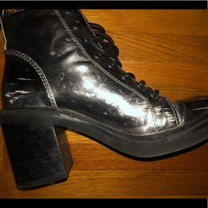 Dolce Vita Shoes - Dolce Vita - Silver Mirrored Look Combat Boots